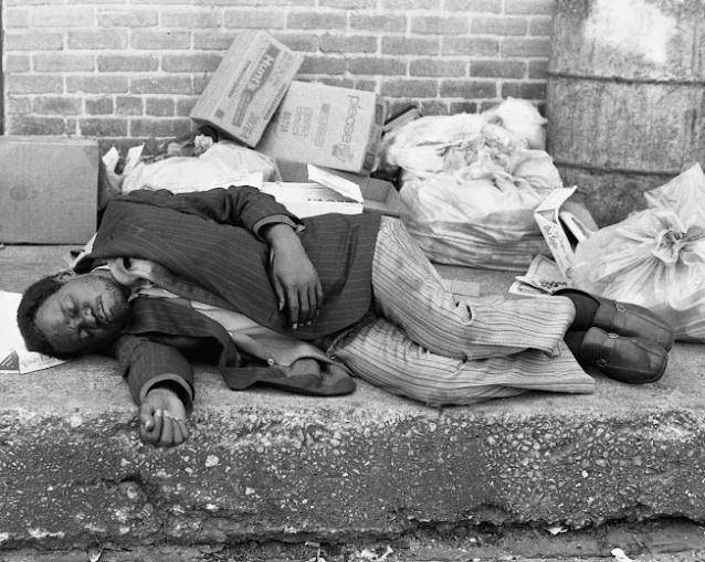 Drunk Man Slepping ~ Cropped