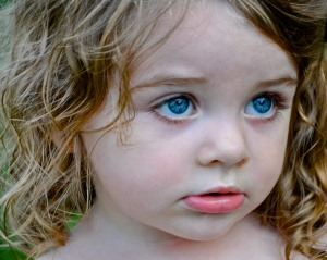 A little girl and her eyes